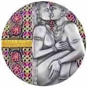 Republic of Cameroon KAMA SUTRA series MOMENTS OF LOVE 3000 Francs Silver Coin Antique finish High Relief 2019 Gold plated 3 oz